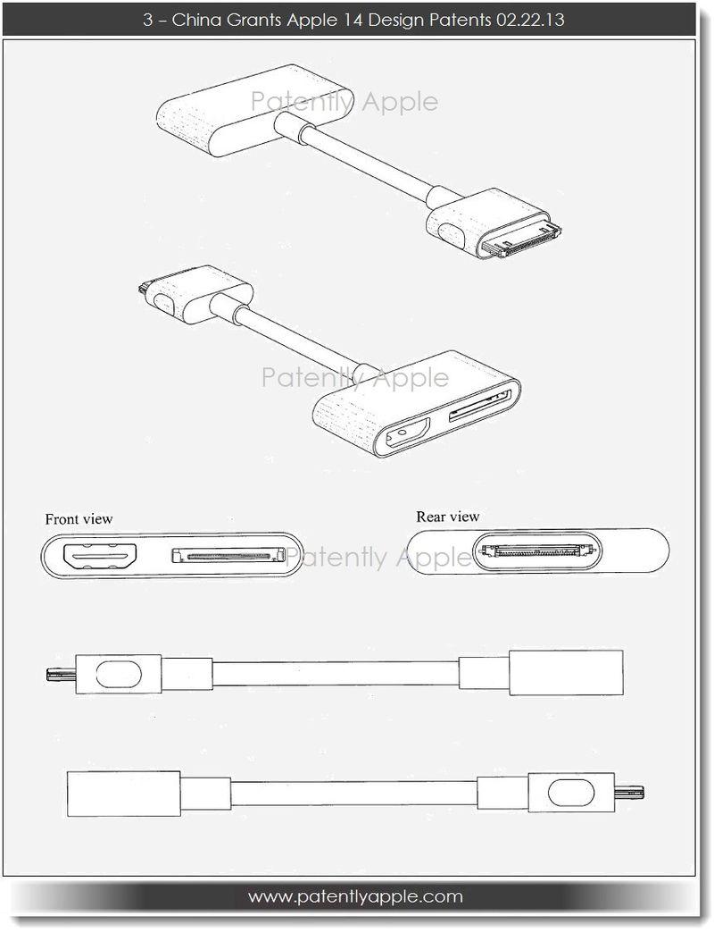 4. China Grants Apple 14 Design Patents 02.22.13