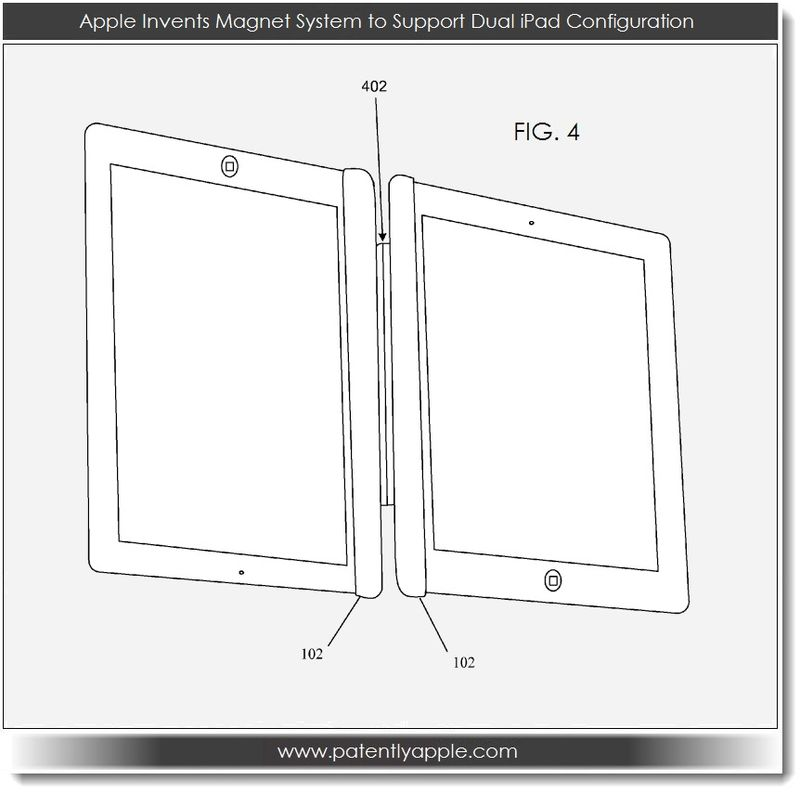 4 Dual iPad configuration via new magnetic system