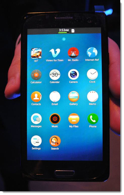 2. Samsung Prototype Tizen OS - Butt Ugly