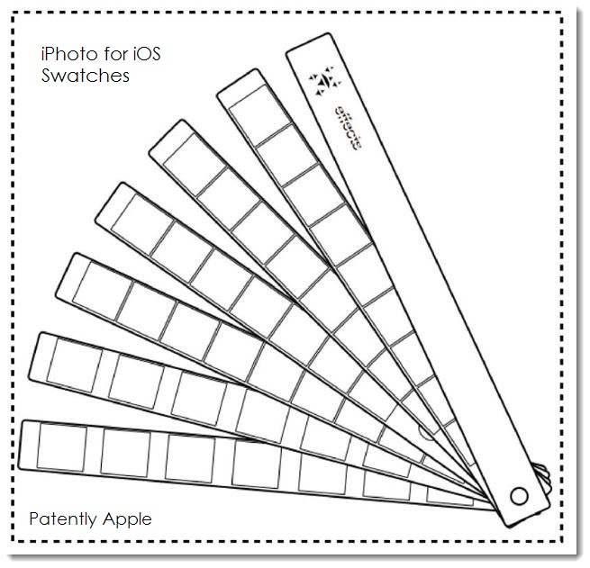 4. Apple's iPhoto Swatches Graphic Design wins patent in China