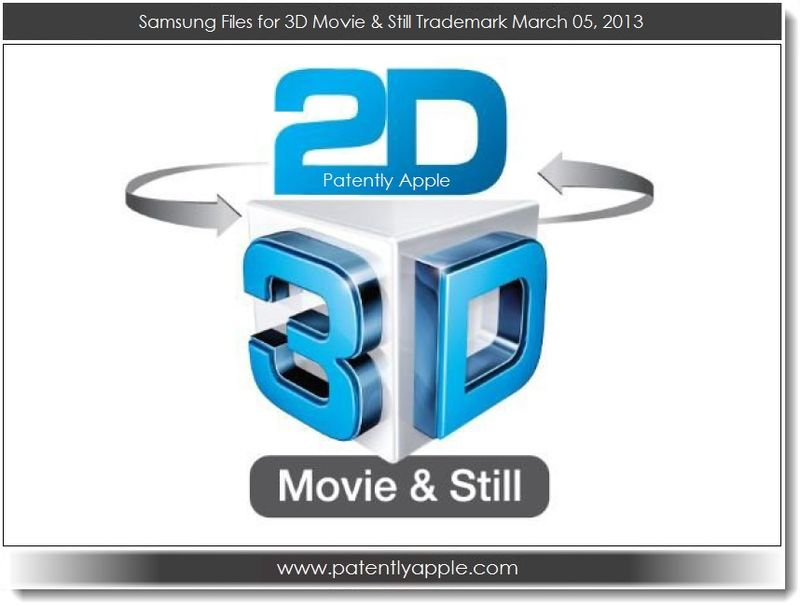 2. Samsung files for 3D Movie & Still TM march 05, 2013