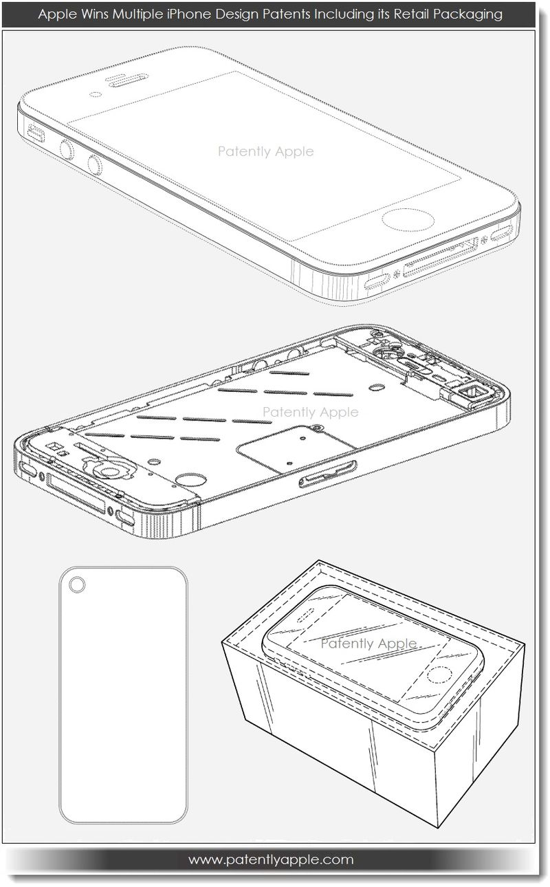 2. Apple wins multiple iPhone design patents incl retail pkg 3.12.13