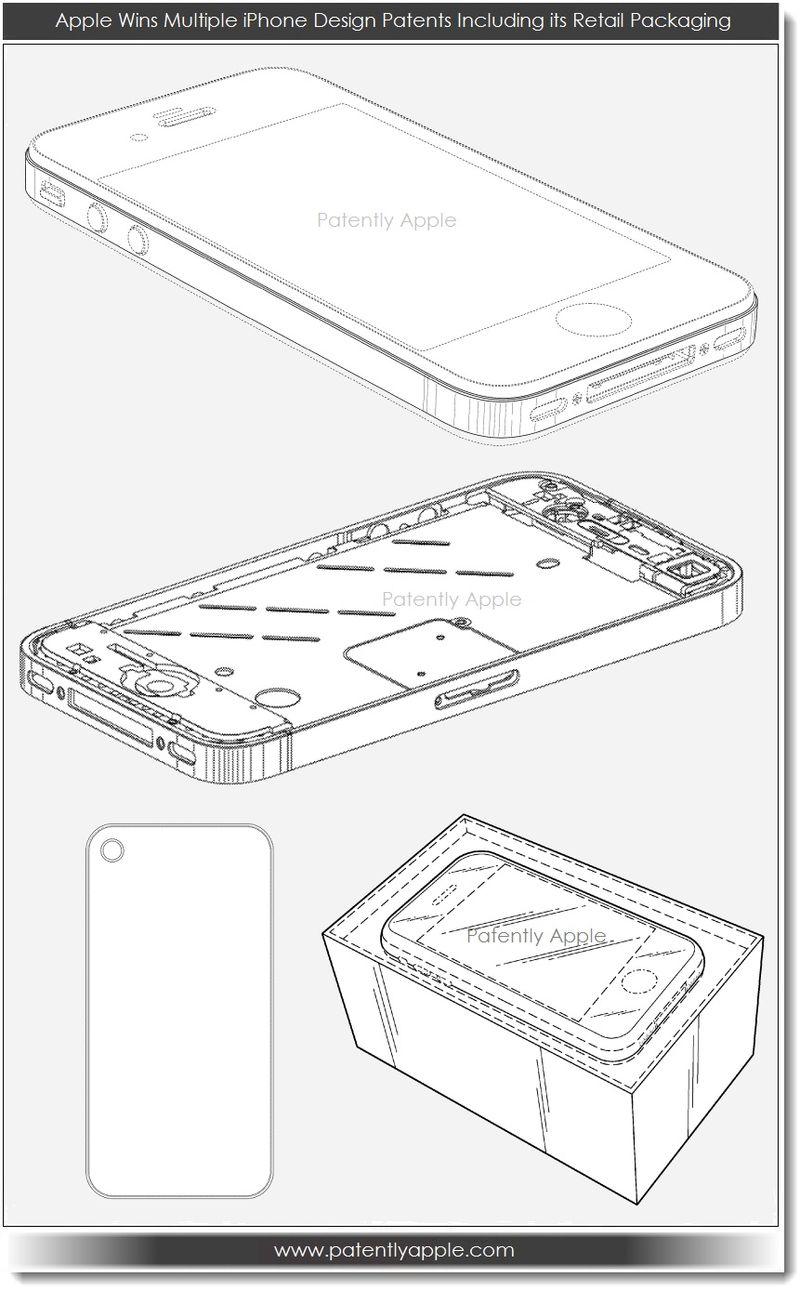 2. Apple wins multiple iPhone design patents incl retail pkg 3.12.13