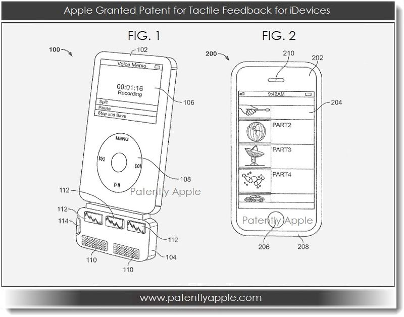 3. Apple granted tactile feedback patent for iDevices Mar 19, 2013