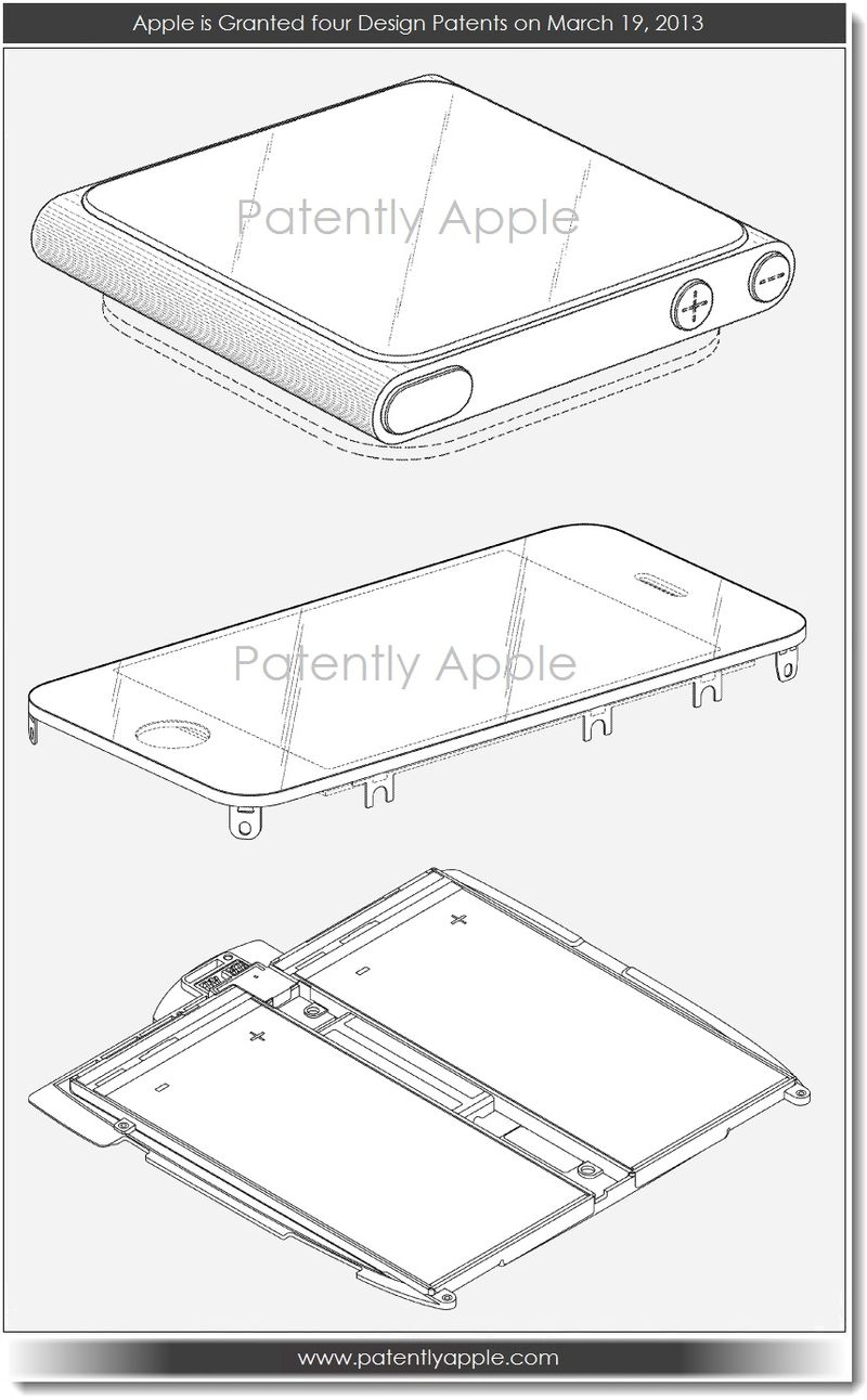 4. Apple granted 4 patents Mar 19, 2013