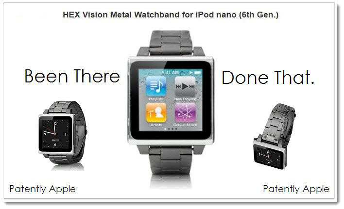3A. Apple's iPod nano 6th generation - as a watch. Been there done that