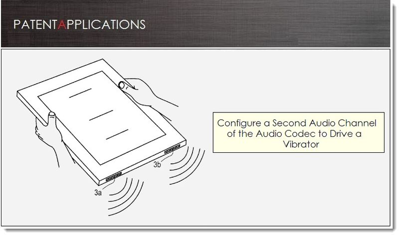 1. Cover, Apple patent application Mar 21, 2013 - Audio codec with vibrator Support