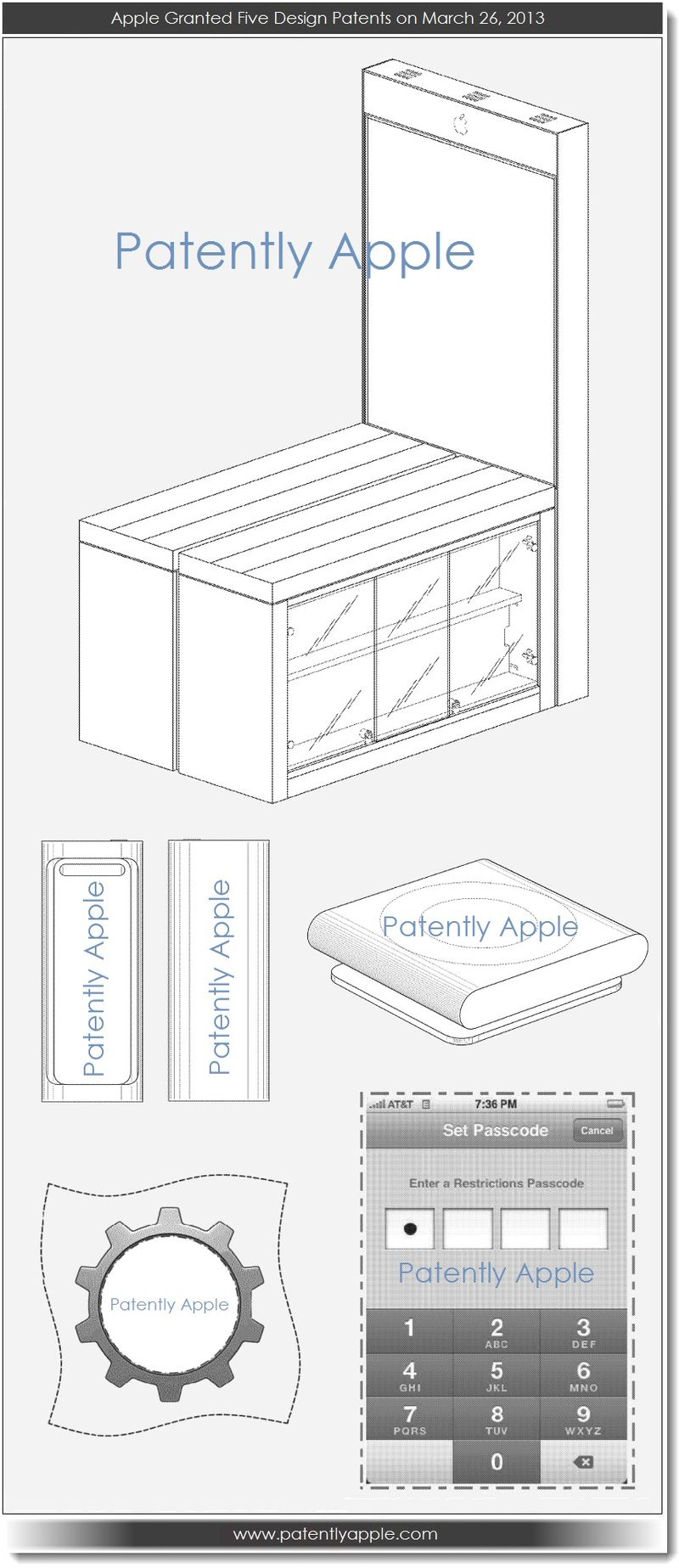 5. Apple granted 5 design patents March 26, 2013