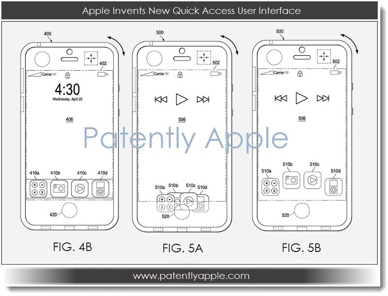 3. Quick Access UI Apple patent