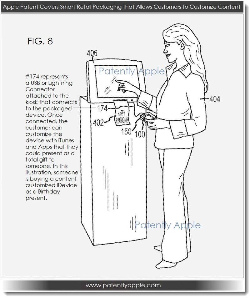 2A. customizing content of a device still in its original retail pkg, Apple Patent