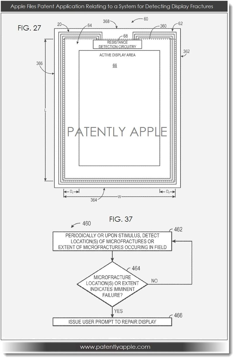 3. Apple files patent for system relating to detecting display fractures