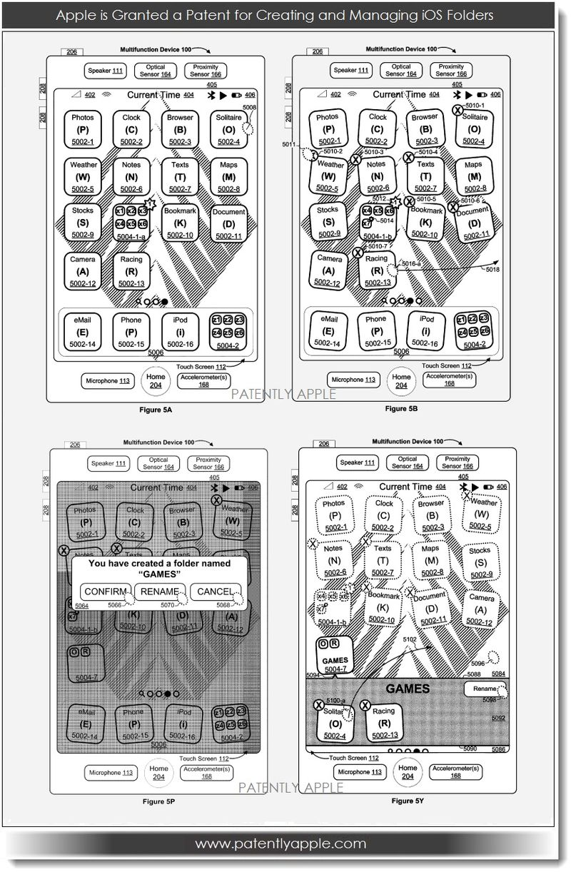 2. Apple Granted Patent for creating and managing iOS Folders