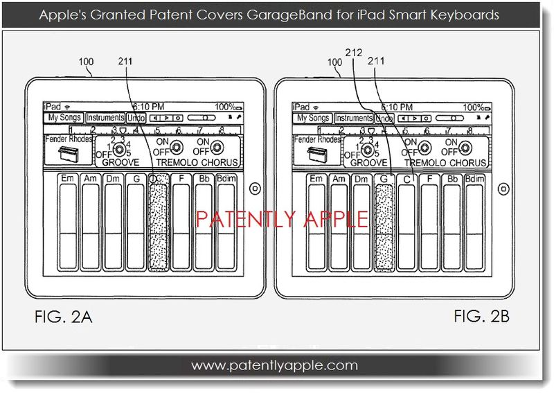 2. Apple granted patent re GarageBand for iPad, Smart Keyboards