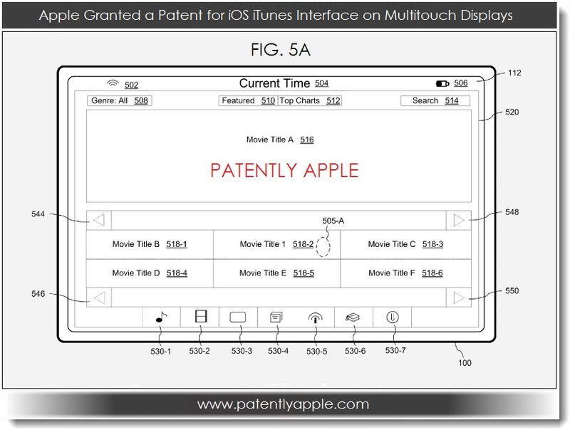 2. Apple Granted a Patent for iOS iTunes on Multitouch Displays