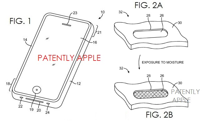 3. Waterproofing Patent, Apple, May 2013