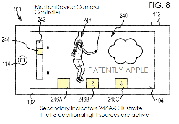 3. Master iDevice Camera Controller + indicator as to how many added light sources are active