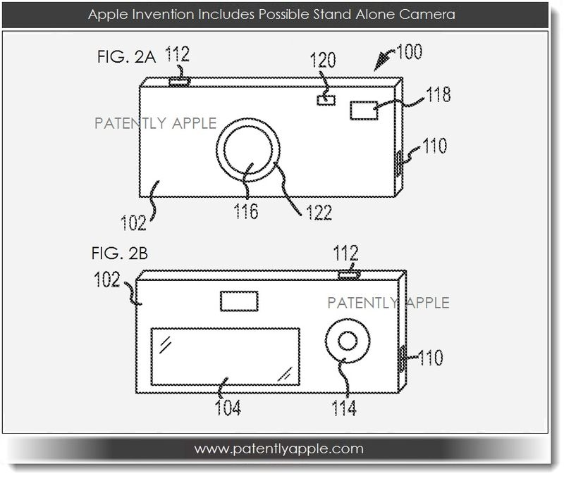 4. Apple patent application illustrates stand alone camera