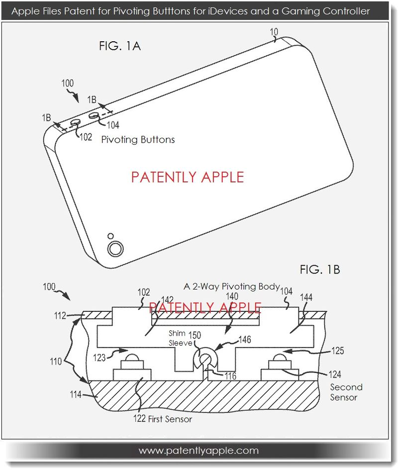 2. Apple patent for pivoting buttons