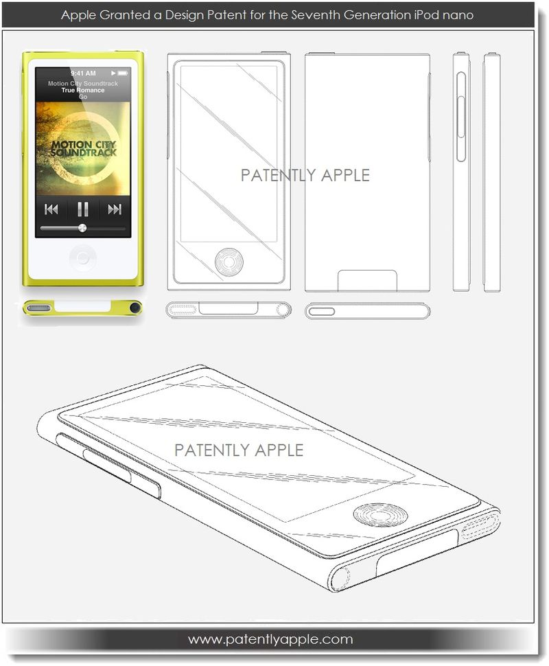 2. Apple wins design patent for iPod nano 7th generation