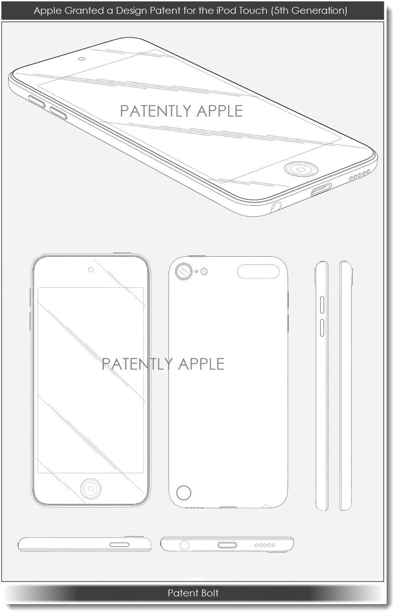 3. Apple wins design patent for 5th gen iPod touch