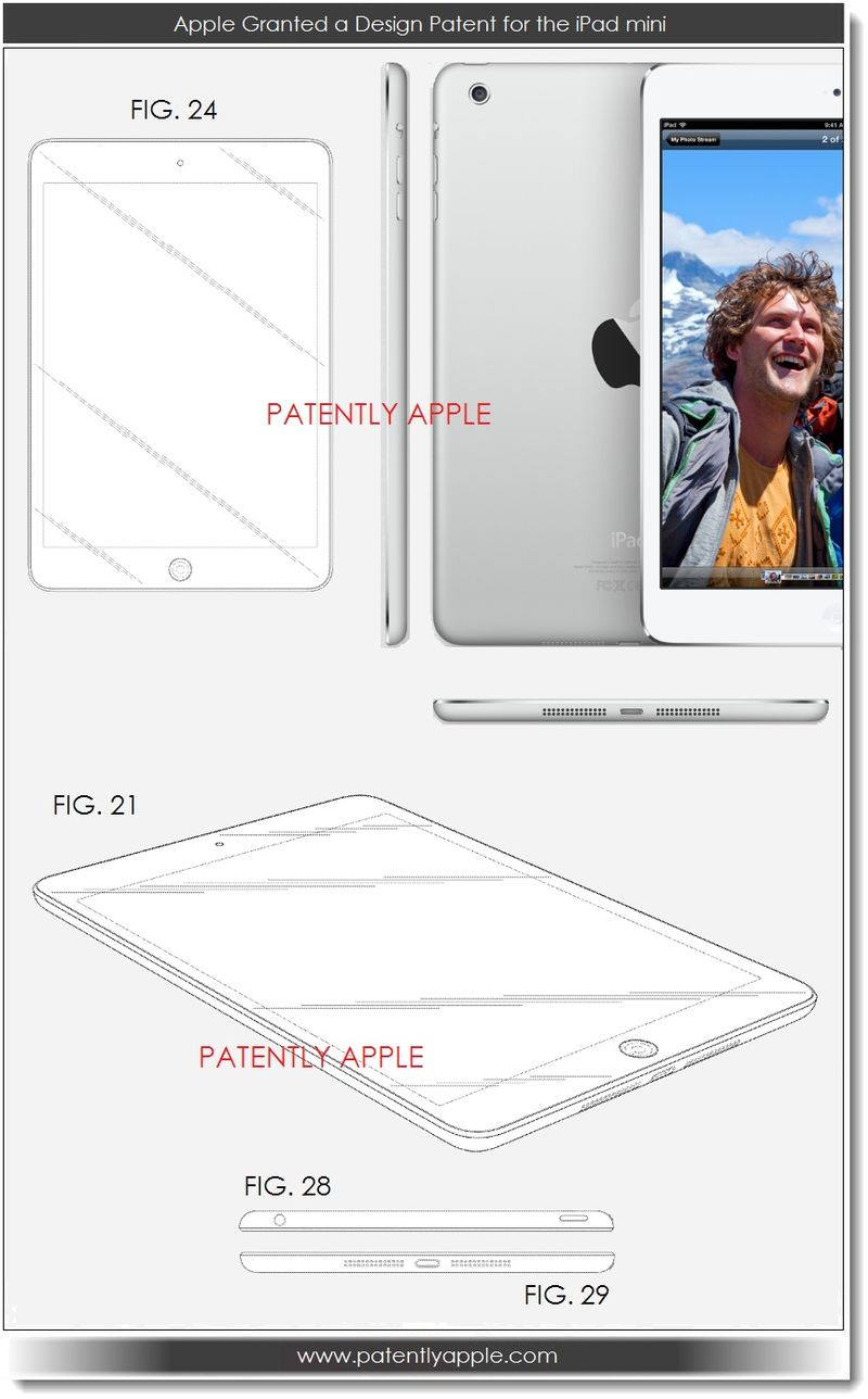 2. Apple granted design patent for the iPad mini