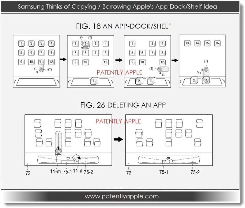 2. Samsung Patent figures show Apple-like app-doc - shelf idea