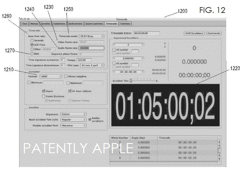 4. Apple granted a patent for Timecode May 2013