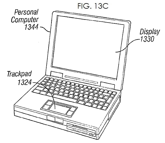 3. Apple patent for all new touch sensor for future notebook