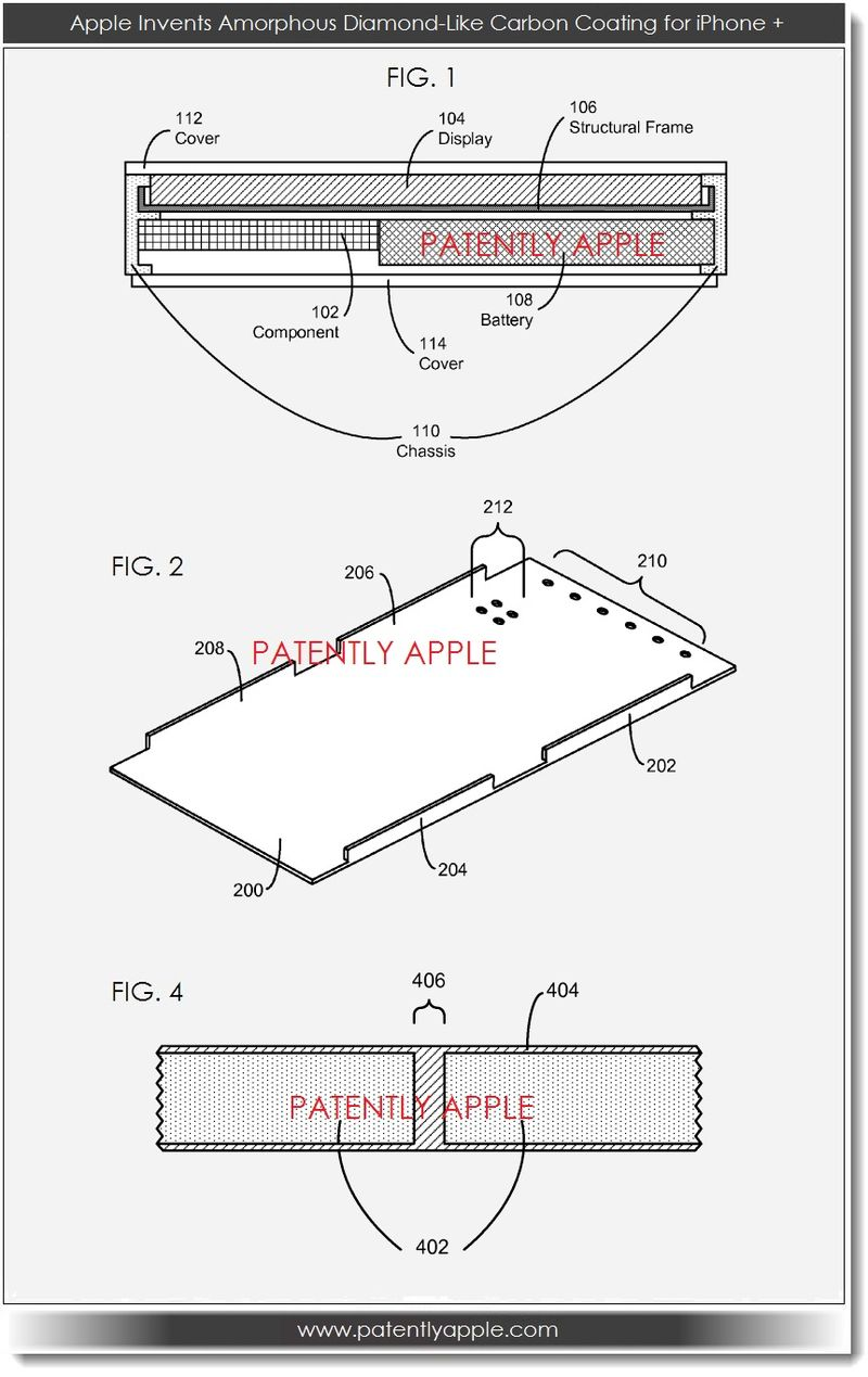 2. Apple invents amorphorous diamond-like coating for iPhone +
