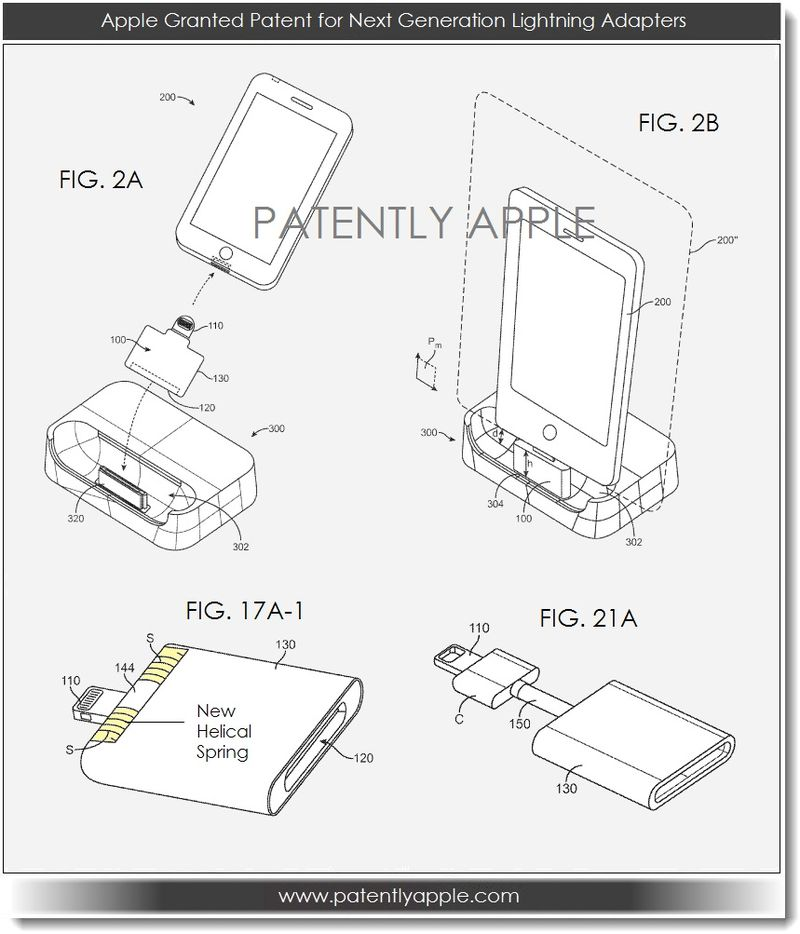 3. Apple granted patent for lightning adapters