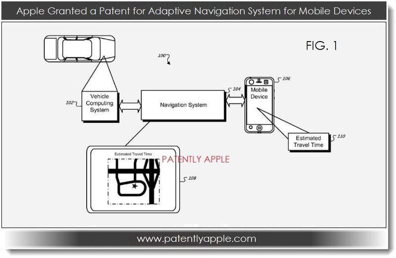 5. Apple granted patent for adaptive Navigation sytem re estimated travel time