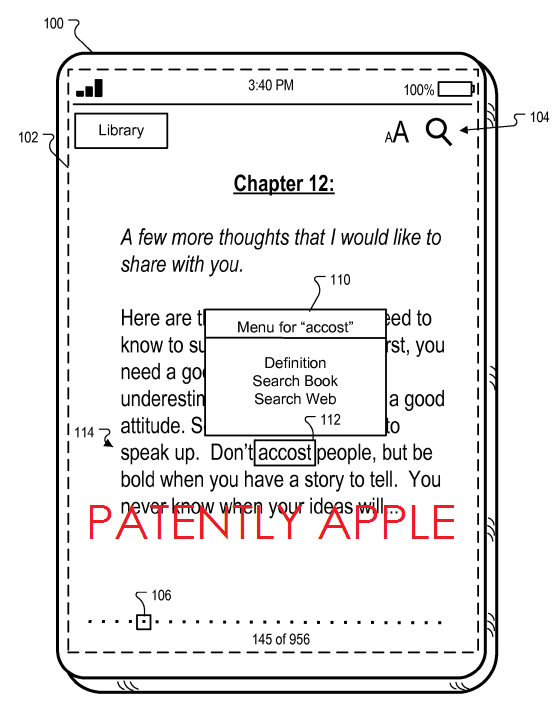 6. Apple Granted Patent for iDevice Assisted Reader for hearing impaired