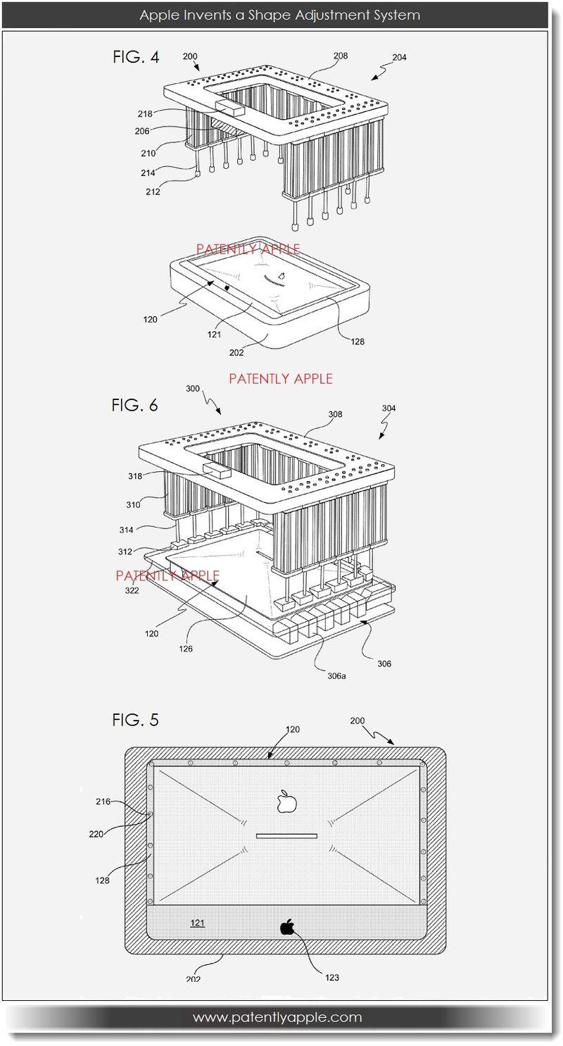 2. Apple invents shape adjustment system