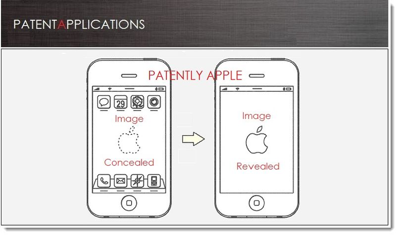 1A. Cover - Apple Patent - Hiding Concealing Components behind a display