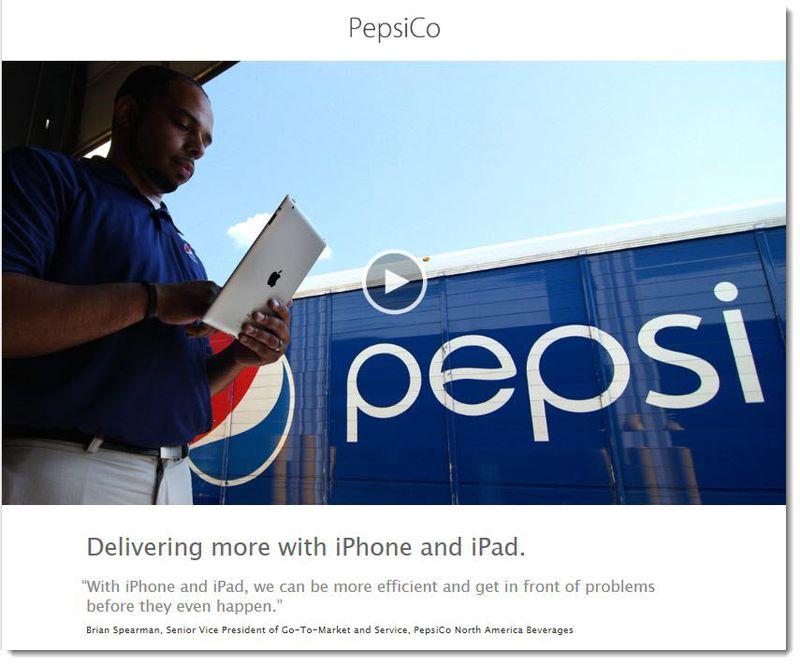 4. Pepsi using iPad
