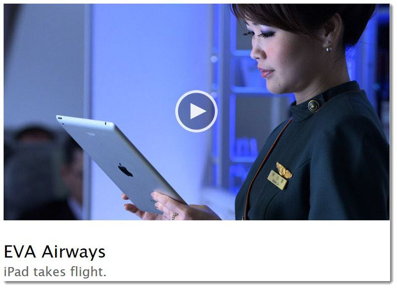 6. EVA Airways uses the iPad