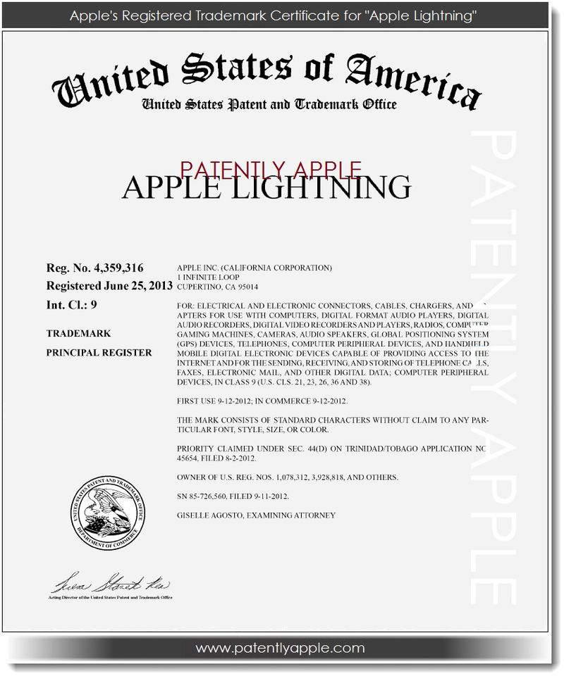 2. Apple Lightning now a RTM June 26, 2013