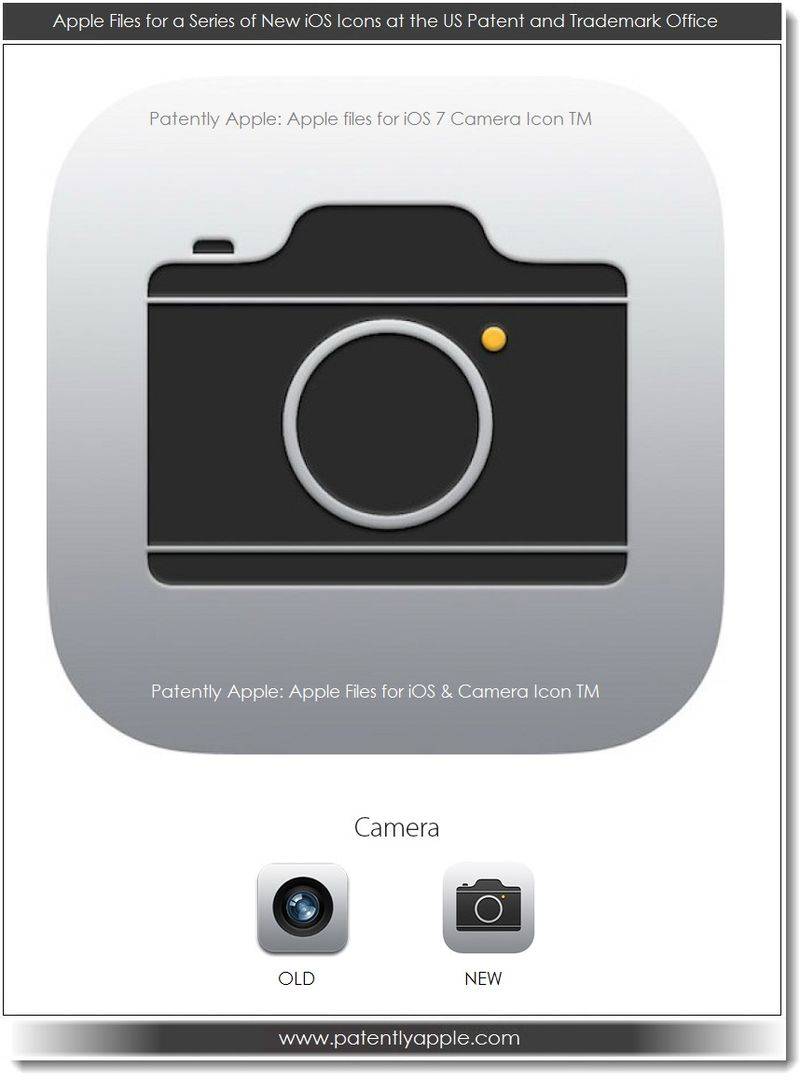 2. Apple iOS 7 Camera Icon - July 2013