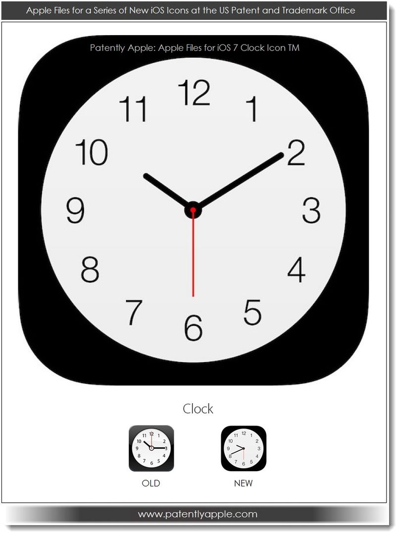 4. Apple iOS 7 Clock icon TM