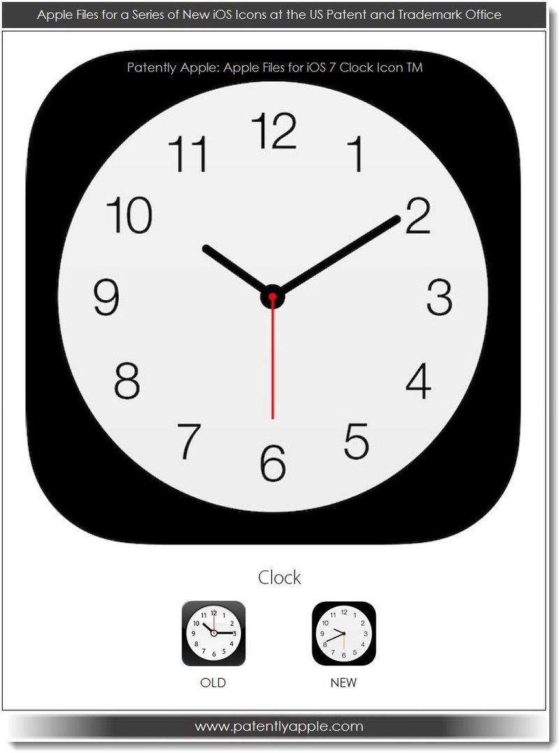 4. Apple iOS 7 Clock icon TM