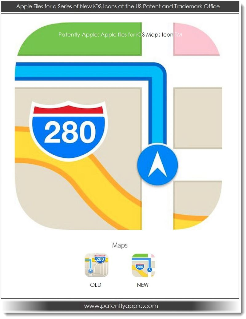 3. Apple's iOS 7 Maps Icon
