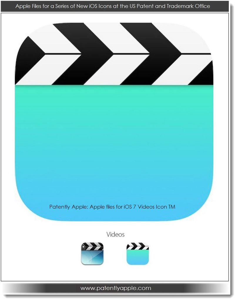 6. Apple's iOS 7 Videos Icon