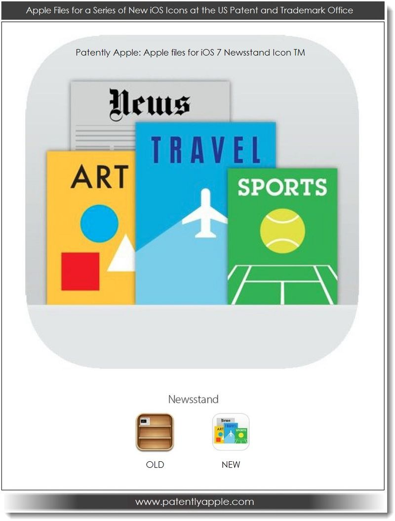 8. Apple's iOS 7 Newsstand Icon