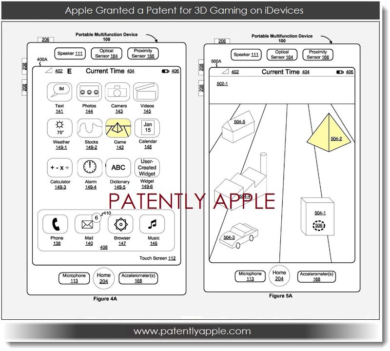 2. Apple patent for 3D gaming on iDevices