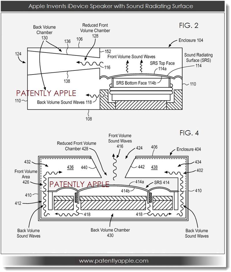 3. Apple invents idevice speark with sound radiating surface