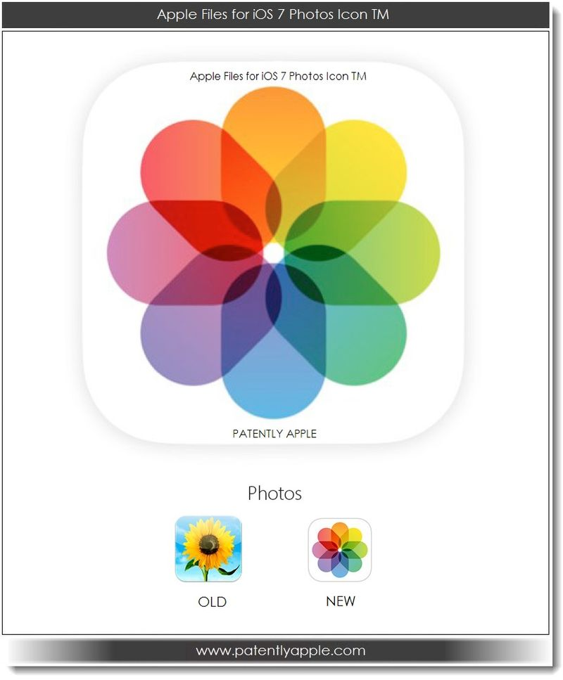 5. Apple files for iOS 7 Photos Icon TM