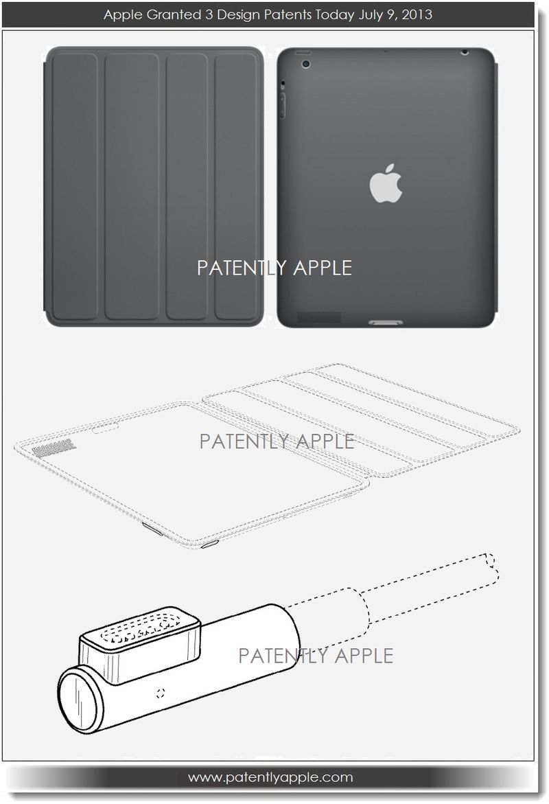 6A. Apple wins 3 design patents July 9, 2013