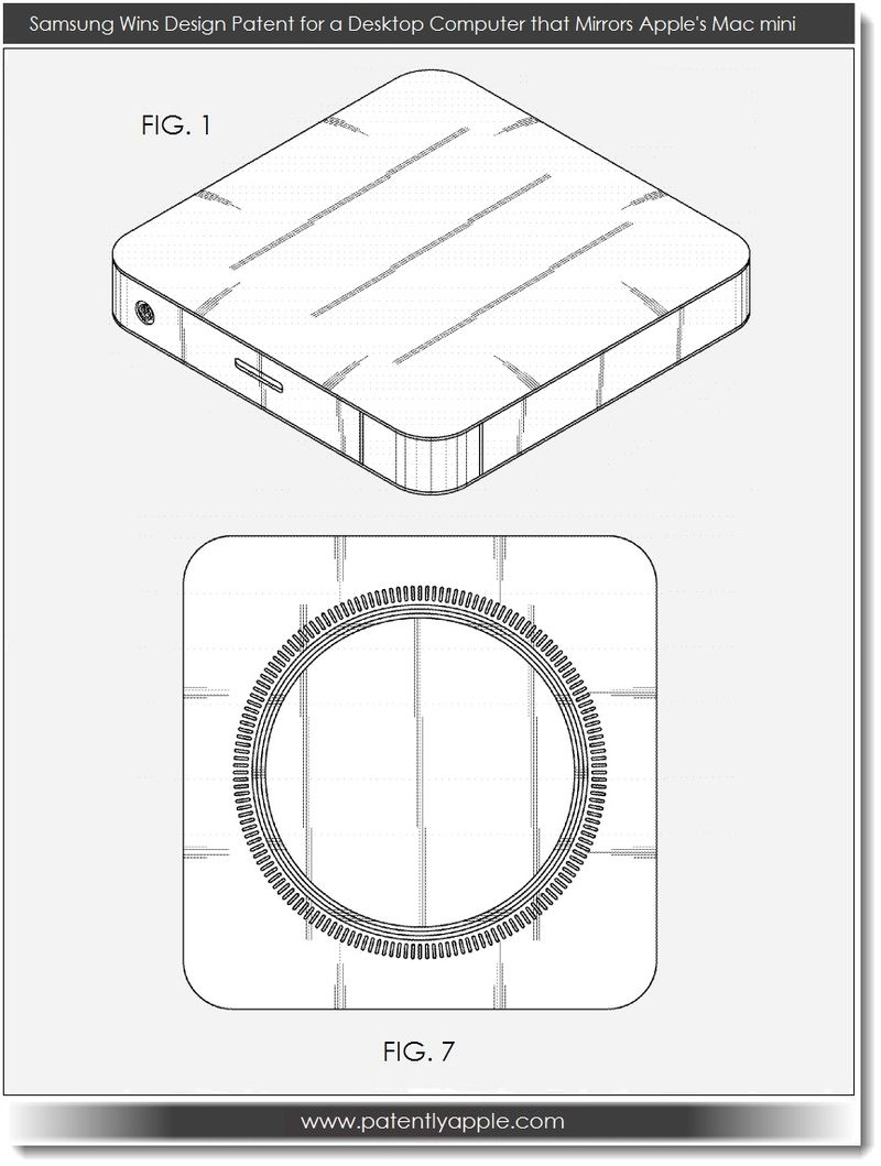 2. PA - Samsung wins design patent for a desktop computer that mirrors Apple's Mac mini