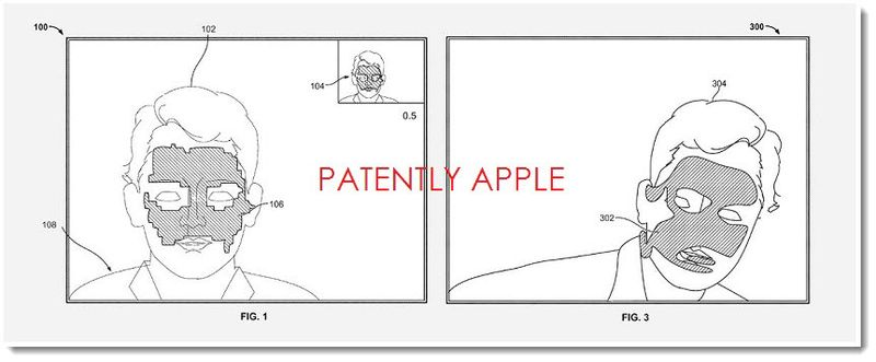 3. Apple Facial Tracking patent figure