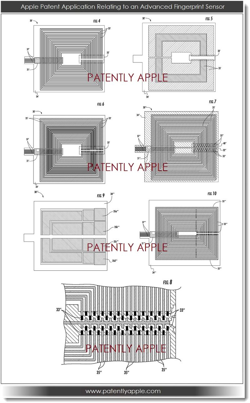 5. APPLE FINGERPRINT SENSOR PATENT FIGS 4-10